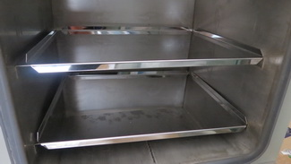 Solid stainless steel shelf