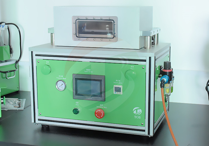 pouch cell vacuuming and second sealing machine