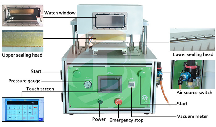 vacuuming sealing machine