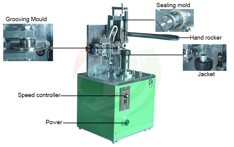 Supercapacitor grooving machine